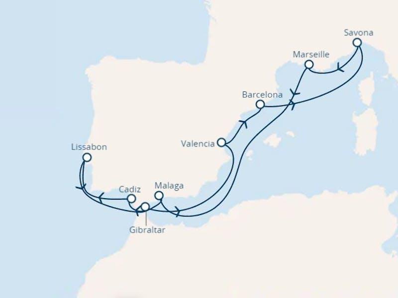 Spanien,  Italien,  Frankreich,  Portugal,  Gibraltar