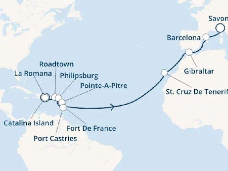 Dominik. Republik,  Jungferninseln,  Antillen,  Kanaren (spanien),  Gibraltar (großbritannien),  Spanien,  Italien