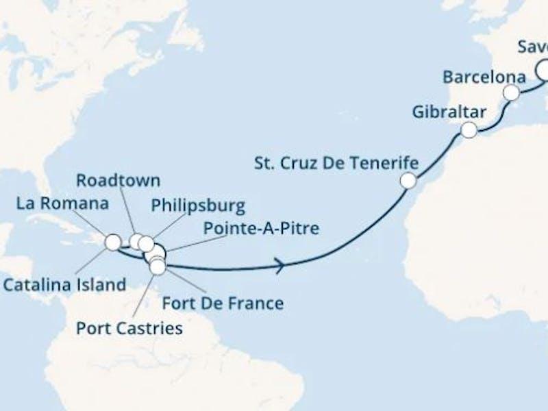 Antillen,  Dominik. Republik,  Jungferninseln,  Kanaren (spanien),  Gibraltar (großbritannien),  Spanien,  Italien