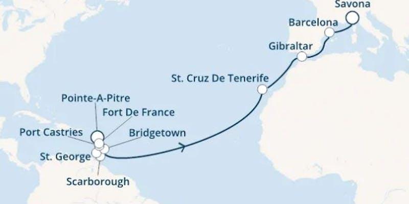 Antillen, Trinidad und Tobago, Kanaren (spanien), Gibraltar (großbritannien), Spanien, Italien