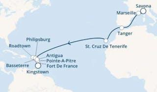 Italien, Frankreich, Marokko, Kanaren (spanien), Antillen, Jungferninseln